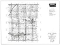 Osage County, Lyndon, Olivet, Osage City, reading, Quenemo, Overbrook, Scranton, Burlingame, Carbondale, Kansas State Atlas 1958 County Highway Maps