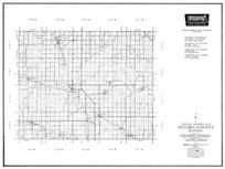 Ottawa County, Minneapolis, Tesco, Vine Creek, Wells, Bennington, Ada, Lemar, Kansas State Atlas 1958 County Highway Maps