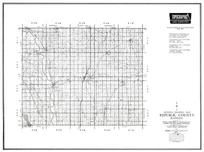 Republic County, Belleville, Wayne, Cuba, Narka, Warwick, Kansas State Atlas 1958 County Highway Maps