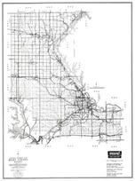 Riley County, Junction City, Manhattan, Ogden, Randolph, Ashland, Kansas State Atlas 1958 County Highway Maps