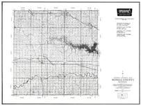 Russell County, Lucas, Saline River, Waldo, Paridise, Kansas State Atlas 1958 County Highway Maps