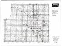 Sedgwick County, Derby, Clear Water, Cheney, Wichita, Haysville, Valley Center, Greenwich, Kansas State Atlas 1958 County Highway Maps