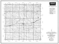 Wallace County, Sharon Springs, Weskan, Sunland, Kansas State Atlas 1958 County Highway Maps