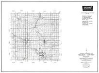 Wilson County, Fredonia, Altoona, Benedict, Coryville, Buffalo, New Albany, Kansas State Atlas 1958 County Highway Maps