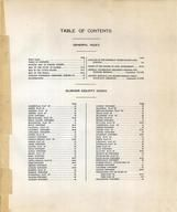Table of Contents, Sumner County 1918