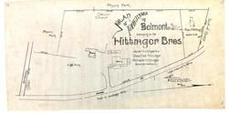 Hittinger Bros. 1890c West of School St., Payson Park, Stone, Belmont 1890c Survey Plans