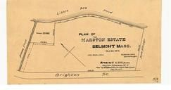 Marston Estates 1876 Little Spy Pond, Jacob Hittinger, Artemas Frost, Belmont 1890c Survey Plans