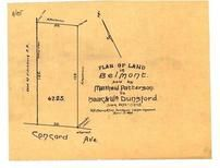 Matthew Patterson to Isaac & Wm Dunsford 1899 Fitchburg Railroad, Belmont 1890c Survey Plans