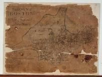 Boston 1722 Captain John Bonner Survey third state likely produced in 1725  MHS Digital Image 5023