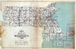 Index Map, Massachusetts State Atlas 1904