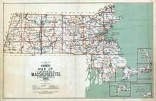 Index Map, Massachusetts State Atlas 1909