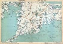 Plate 012 - Sandwich, Falmouth, Vineyard Sound, Barnstable, Bourne, Massachusetts State Atlas 1909