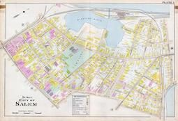 Plate 001 - City of Salem, Ward 2, Salem - Marblehead - Peabody - Danvers 1897