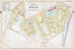 Plate 006 - City of Salem, Ward 3, Salem - Marblehead - Peabody - Danvers 1897