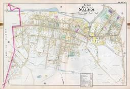 Plate 007 - City of Salem, Ward 4, Salem - Marblehead - Peabody - Danvers 1897
