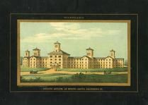 Baltimore 1850 to 1899 View of Lunatic Asylum at Spring Grove - 95x057.5, Baltimore 1850 to 1899 View of Lunatic Asylum at Spring Grove - 95x057.5
