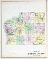 Benzie County Map, Benzie County 1901