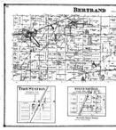 Bertrand, Troy Station, Stevensville, Avery Station, Brown Station - Left, Berrien County 1873
