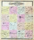 Clinton County Outline Map, Clinton County 1896