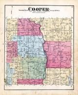 Cooper Township, Cooper Centre, Twin Lakes, Kalamazoo River, Kalamazoo County 1873 Published by F. W. Beers