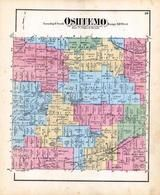 Oshtemo Township, Dustin Lake, Bongcastle Lake, Kalamazoo County 1873 Published by F. W. Beers