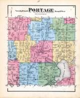 Portage Township, Austin Lake, West Lake, Stanley Lake, Mud Lake, Gourd Neck Lake, Kalamazoo County 1873 Published by F. W. Beers