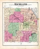 Richland Township, Middle Lake, Lower Lake, Gull Lake, Grassy Lake, Kalamazoo County 1873 Published by F. W. Beers