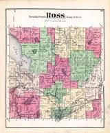 Ross Township, Augusta, Howlandsburg, Andertons Lake, Yorkville, Gull Lake, Kalamazoo County 1873 Published by F. W. Beers