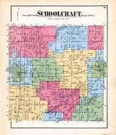 Schoolcraft Township, Howard Lake, Rawson Lake, Vicksburg, Kalamazoo County 1873 Published by F. W. Beers
