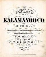 Kalamazoo County 1873 Published by F. W. Beers