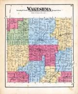 Wakeshma Township, Fulton, Little Portage Creek, Kalamazoo County 1873 Published by F. W. Beers