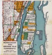 Monguagon Township, Grosse Isle Township, Bois Blance Island, Stony Island, Sible, Riverview