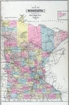Minnesota State Map, Fillmore County 1896