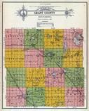 Grant County Outline Map, Grant County 1914