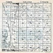 Galena Township, Ormsby, Monterey, Triumph, Martin County 1940c Published by Fairmont Printing Company