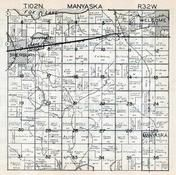 Manyaska Township, Welcome, Sherburn, Martin County 1940c Published by Fairmont Printing Company