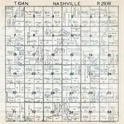 Nashville Township, Martin County 1940c Published by Fairmont Printing Company