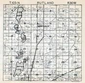 Rutland Township, Northrop, Martin County 1940c Published by Fairmont Printing Company