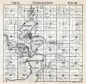 Tenhassen Township, Wilber, Martin County 1940c Published by Fairmont Printing Company