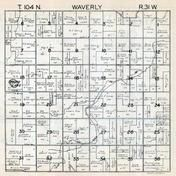 Waverly Township, Martin County 1940c Published by Fairmont Printing Company