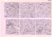 Clearwater - Sinclair, Eddy, Holst,  Copley, Popple, Ebro, Dudley, Four Legged Lake, Leonard, Neving, Peterson, Minnesota State Atlas 1925c
