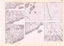 Cook - Township 59 Range 5 W., Township 60 N. Ranges 1, 2, 3, 4, and 5 W., Township 61 Ranges 1, 2, and 3 E., Lake Superior, Minnesota State Atlas 1925c