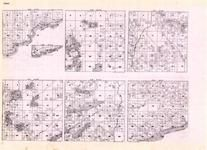 Cook - Township 61 Ranges 1, 2, 3, 4 and 5 W., Township 62 Ranges 4 and 5 E., Lake Superior, Temperance, Minnesota State Atlas 1925c