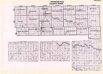 Pennington County, Mayfield, Hickdry, Deer Park, Rhoda, Neptune, Red Lake River, Minnesota State Atlas 1925c