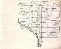 Anoka County, Oak Grove, Burns, Saint Francis, Linwood, Bethel, Columbus, Minnesota State Atlas 1930c