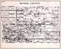 Becker County, White Earth Indian Reservation, Osage, Savannah, Cuba, Atlanta, Minnesota State Atlas 1930c