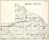 Brown County, Eden, Prairieville, Home, Milford, North Star, Burnstown, Minnesota State Atlas 1930c