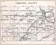 Carlton County, Besemann, Red Clover, Progress, Perch Lake, Eagle, Minnesota State Atlas 1930c