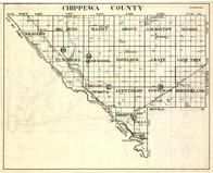 Chippewa County, Kragero, Big Bend, Mandt, Grace, Louriston, Tunsberg, Havelock, Crate, Minnesota State Atlas 1930c