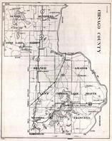 Chisago County, Nessel, Rushseba, Fish Lake, Harris, Sunrise, Amador, Minnesota State Atlas 1930c